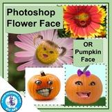 Photoshop Flower Face (or Pumpkin Face)