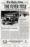 1 Page Newspaper Template Adobe Photoshop (11x17 inch)
