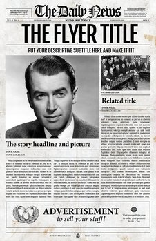 1 page newspaper template adobe photoshop 11x17 inch by for 11x17 poster template photoshop