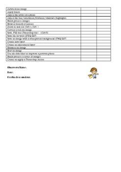 Photoshop Observation Checklist