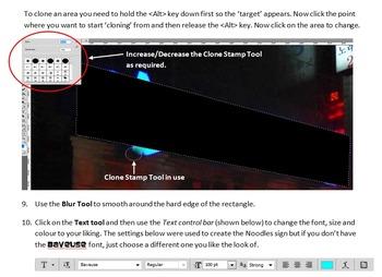 Photoshop Tutorial 4 – Mystery Sign (pen tool, clone tool, transform, skew)