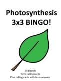 Photosynthesis 3 by 3 BINGO!