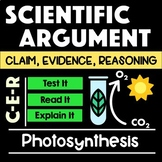 Photosynthesis Argument with Claim Evidence Reasoning