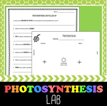 Photosynthesis Atoms Lab