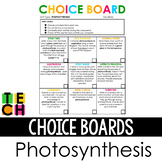 Photosynthesis Choice Board