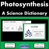 Photosynthesis Color, Cut, and Glue Dictionary
