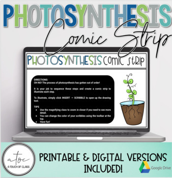 Photosynthesis Comic Strip Cut, Paste, and Draw Activity