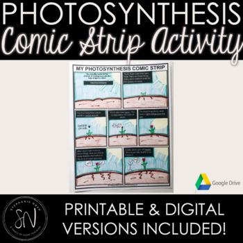 Distance Learning - Photosynthesis Comic Strip Cut, Paste, Draw + Google Slides!