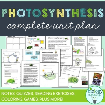 Photosynthesis Complete Unit