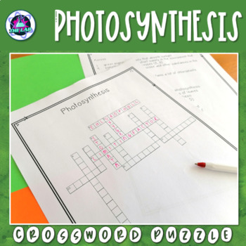 Photosynthesis Crossword Puzzle By The Lab Teachers Pay Teachers