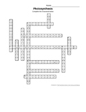 Photosynthesis Crossword Puzzle Answer Key
