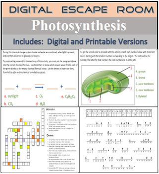 Photosynthesis Digital Escape Room Breakout Activity