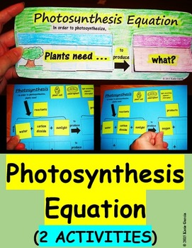 Photosynthesis Equation Activities