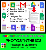 Photosynthesis Google Doc - Article & Questions - Distance Learning Friendly