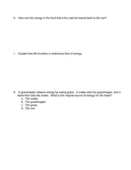 Photosynthesis Homework 1