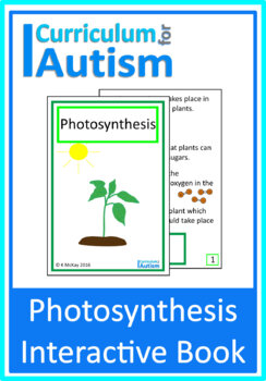 Photosynthesis, Biology, Interactive Adapted Science Book, Autism