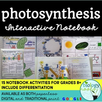 Photosynthesis interactive notebook by biology roots tpt photosynthesis interactive notebook ccuart Image collections