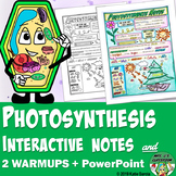 Photosynthesis Interactive Notes, PowerPoint, & Warm ups
