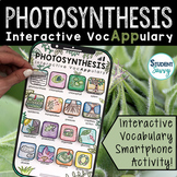Photosynthesis Interactive VocAPPulary - Vocabulary App Activity