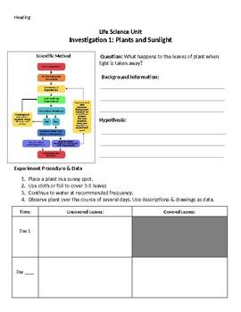Photosynthesis Investigation / Scientific Method