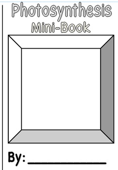 Photosynthesis Mini-Book Template