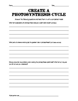 Photosynthesis Model Instructions