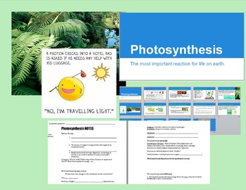 Photosynthesis Power Point and Cornell Notes