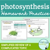 Photosynthesis -Homework Practice