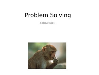 Photosynthesis Problem Solving