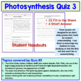 Photosynthesis Quiz Set of 3