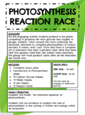 Photosynthesis Reaction Race!