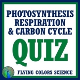 Photosynthesis Respiration, Cycling of Matter Ecosystems Quiz NGSS MS-LS2-3