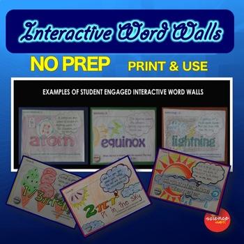 Photosynthesis & Respiration - Interactive Word Wall - NO PREP