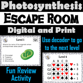 Photosynthesis Activity: Biology Escape Room - Science