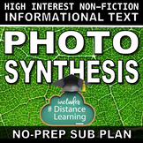 Science Literacy Photosynthesis Science Sub Plan