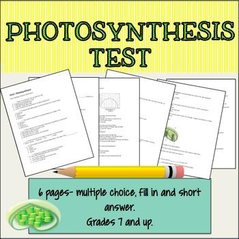 Photosynthesis Test
