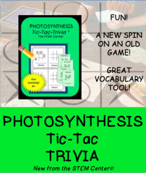 Photosynthesis Tic Tac Trivia Board Game