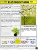 Photosynthesis: Unit Note Packet