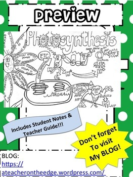 Photosynthesis Ver2 Sketch Notes Doodle Notes W/Teacher's Guide & Student Notes!