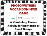 Photosynthesis Vocab Dominoes Game