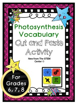 Photosynthesis Vocabulary Activity