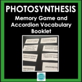 Photosynthesis Vocabulary Memory Game with Word Wall Definition Cards