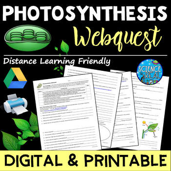 Photosynthesis WebQuest with Virtual Lab & Game