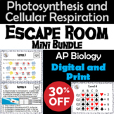 Photosynthesis and Cellular Respiration Activity: AP Biology Escape Room Science