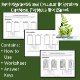 Photosynthesis and Cellular Respiration Chemical Formula W