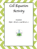 Photosynthesis and Cellular Respiration Equation Activity