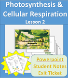 Photosynthesis Lesson 2 Powerpoint with Student Notes