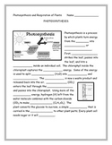 Photosynthesis and Cellular Respiration Note Taking Guide