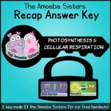 Photosynthesis and Cellular Respiration Recap Answer Key b