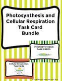 Photosynthesis and Cellular Respiration Task Card BUNDLE